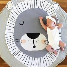 tapis rond chambre b coton de dessin animé renard panda enfants jeu tapis bébé