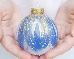 ornament glass painted bauble