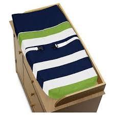 sweet jojo designs navy blue u0026 lime green stripe baby bedding