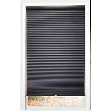 shop allen roth deep blue blackout cordless polyester cellular