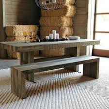 Reclaimed Wood  Steel UShape Table And Bench Tables Woods And - Kitchen table and bench