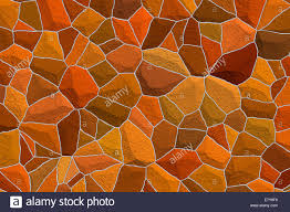 raster illustration of an deep rich amber color stone mosaic