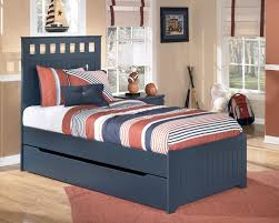 Ashley Childrens Bedroom Furniture by Bedroom Navy Blue Wooden Ashley Furniture Trundle Bed For Kids