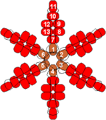 ornaments you can make poinsettia snowflake pony bead