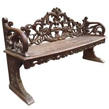 Antique Wooden Bench For Sale by Late 19th Century Carved Italian Wooden Bench For Sale At 1stdibs