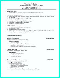 server resume template nice cocktail server resume skills to convince restaurants or café