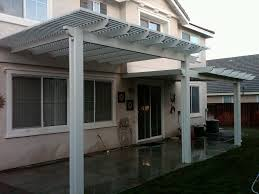 exterior design simple alumawood patio cover with wall sconces