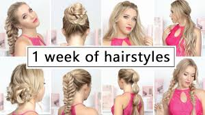 hairstyles quick and easy to do m 1 week of hairstyles for new year s eve party holidays easy