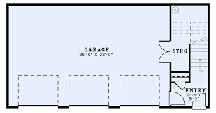 3 car garage plan with side entrance living quarters 1652