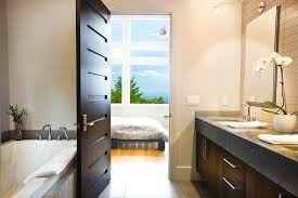 Modern Bathroom Door Ideas For Paint Glazed Modern Interior Doors Decor Homes