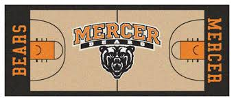 mercer bears basketball court runner rug contemporary novelty