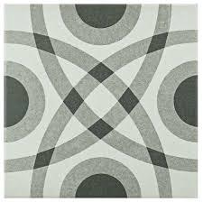somertile 7 75 x7 75 thirties ceramic floor wall tiles circle
