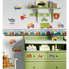 Childrens Wall Borders Transportation Boys Wall Stickers - Wall borders for kids rooms
