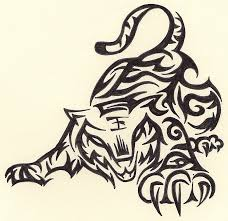 tribal tiger by ruttan on deviantart