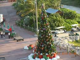 view of dock decorated for christmas picture of castaway cay