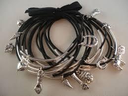 black bracelet charms images Crazy charms set of 15 black bangle bracelets hand horn buddha jpg