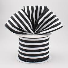black and white striped ribbon 2 5 vertical stripe ribbon black white 10 yards rx9136x6