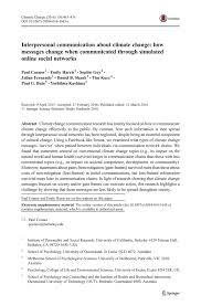 interpersonal communication about climate change how messages