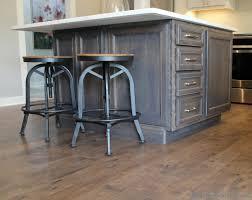 birch kitchen island kitchen island in birch gray stain by koch cabinetry