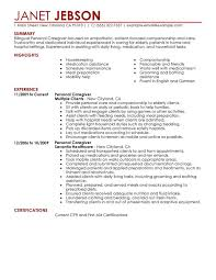 unforgettable personal care resume examples to stand out