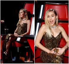 Fashion Sizzlers Archives Fashionsizzle by Miley Cyrus In Vintage Bob Mackie U2013 The Voice Fashionsizzle