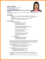 resume free sample cv template writing objective animal for