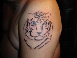 tiger on back shoulder