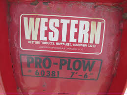 western pro plow 7 5 u0027w snow plow item z9191 sold june 3