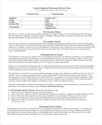 doc 600670 performance review format u2013 employee evaluation form