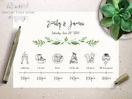 wedding itinerary template for guests wedding timeline printable wedding itinerary template green
