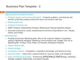 business opportunity analysis template
