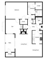 a3 floorplan 1 bed 1 bath forest place apartments