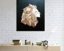 Lion Decor Home Wooden Lion Etsy