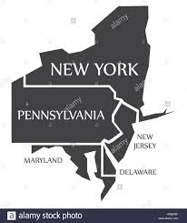 Map Of New York And Pennsylvania by New York Pennsylvania New Jersey Delaware Maryland Map