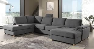 canapé panoramique tissu deco in canape d angle panoramique en tissu gris zina