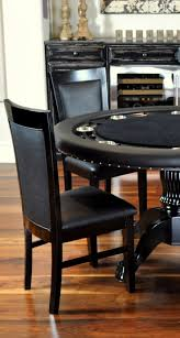 nighthawk round poker table with 6 dining chairs u2013 green speed