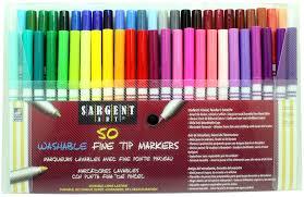 amazon com sargent art 22 1581 50 count fine tip washable marker