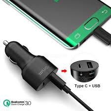 tronsmart c2pe 27w car charger type c quick charge dual usb car