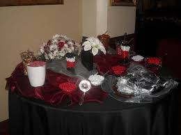 Black And Silver Centerpieces by Black Burgundy Red Silver Centerpiece Centerpieces Edible Fall