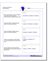 addition word problems grade addition word problems