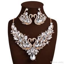 crystal wedding necklace images Bridal jewellery set luxury bridal jewelry sets crystal wedding jpg