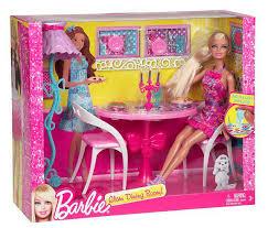 barbie dining room set barbie glam dining room furniture and doll set pink buy online