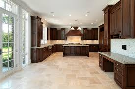 Tile Under Kitchen Cabinets Flooring Dark Wood Kitchen Cabinets And Under Cabinet Lighting