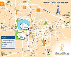Health Map Location Maps Ballarat Health Services