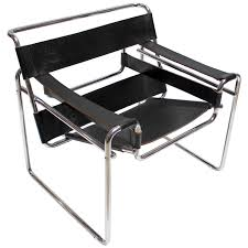 vintage chrome and leather wassily chair by marcel breuer for