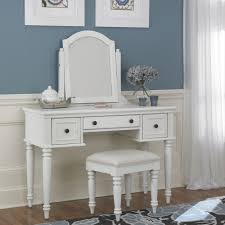 White Vanity Table With Mirror Home Styles Bermuda 3 Piece White Vanity Set 5543 72 The Home Depot