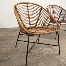 round vintage wicker chairs espace nord ouest