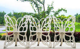 Butterfly Patio Chair Garden Chair On Concrete Patio Stock Image Image 14179617