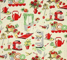 Retro Kitchen Curtains 1950s by Valance Curtain 18 X 40 Cotton Upick Fabric Retro Kitchen Retro