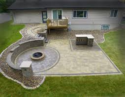 Paver Patio With Retaining Wall by We Like To Party U2013 Devine Design Hardscapes